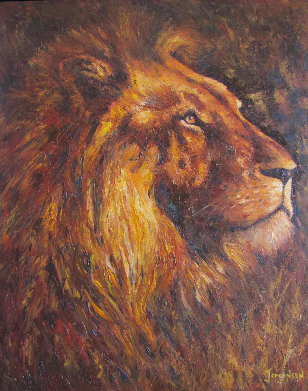 African King painting by Agnes Jorgensen